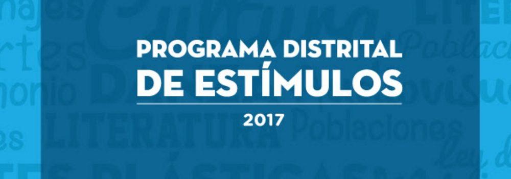 Programa Distrital de Estímulos 2017
