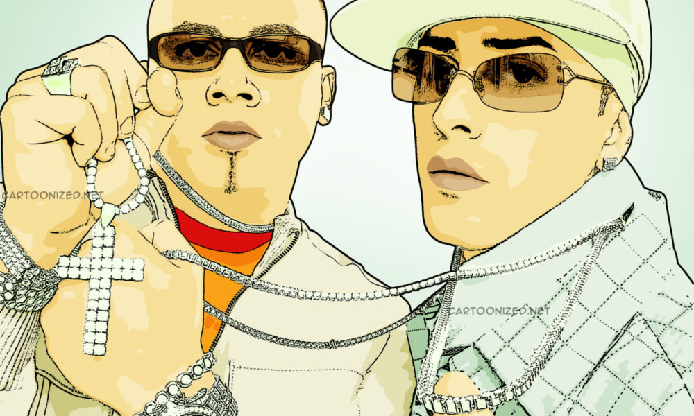 cartoon photo of singer wisin yandel by cartoonized.net